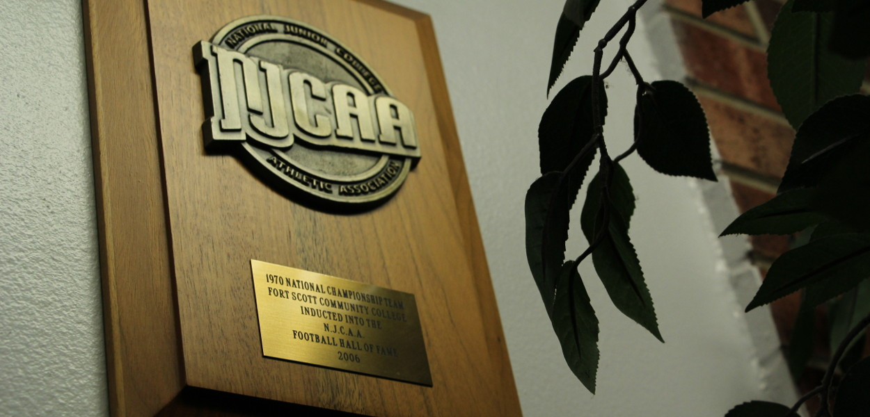 The NJCAA Football Hall of Fame Plaque of 2006, awarded to Fort Scott Community College